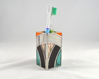 Stained Glass Pencil/Paintbrush/Toothbrush Holder