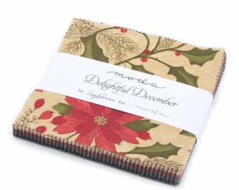 Delightful December Charm Pack by Sandy Gervais for Moda