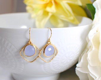 The Kellie Earrings -  Lavender/Gold