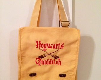 Harry Potter messenger bag Hogwarts Quidditch