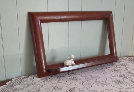 mahogany bathroom mirror large mahogany wood mirror frame with shelf blank by 13569