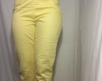 Bright sunshine yellow tight pants from 1960