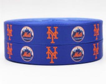 "7/8"" New York Mets Ribbon - 3 yards"