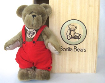 Bonita Bear Beever, Bonita Collectible Bear, vintage bear, stuffed bear, stuffed animal,Vintage Bonita Bear, Nursery Decor,Toys for Children