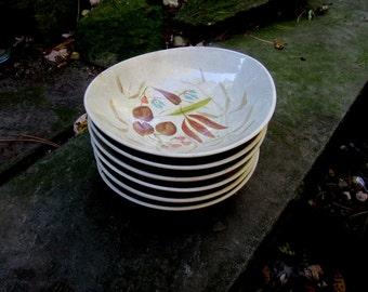 red wing random harvest soup or salad bowls (6)