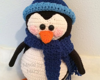 PDF PATTERN: Captain Waddles the Penguin **Crochet Pattern Only, Not Actual Doll**