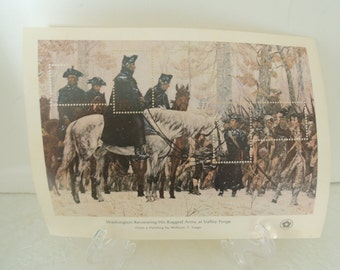 Bicentennial Commemorative stamps, Washington Valley Forge, Excellent condition, Vintage