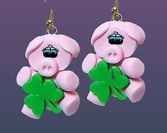 Lucky Pig Earrings