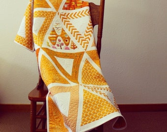 CHOPSTICKS quilt pattern by Jaybird Quilts - 4 sizes - large and small triangles - so FUN to make!