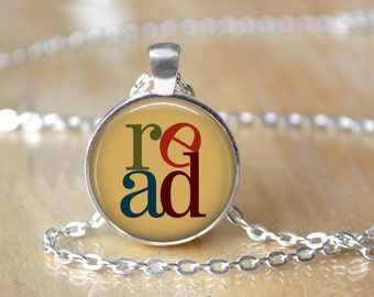Book Necklace, Once Upon A Time, Literature, Readers, Reading, Gifts, Literacy Necklace, Library, Librarian, Heart, Love Books 39