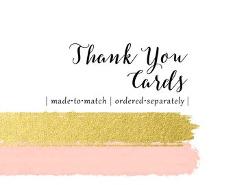 Thank You Cards - Set of 10 - matching any design - ordered separately