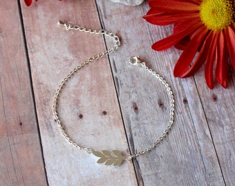 Leaf Bracelet - Dainty Fall Jewelry