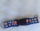KEY FOB, Key Chain, Detachable, Tsum Tsum, Blue web w/ blue ribbon