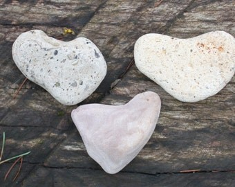 sea pebbles hearts beach heart jewelry supplies art&craft supply sea glass pebbles heart shaped (2)