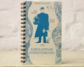 """Spiral Bound Notebook Tartuensis College """"Gung-ho"""" from discarded book covers"""