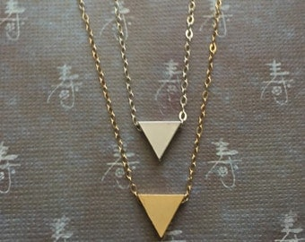 One Triangle Necklace