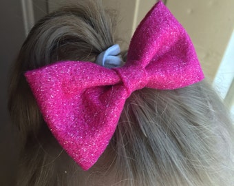 Sparkle felt bow hair clip you choose color