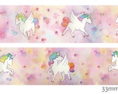 1 Roll of Limited Edition Edition Washi tape- Sweet Unicorn