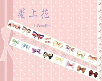 1 Roll of Limited Edition Washi Tape: Girly Ribbons