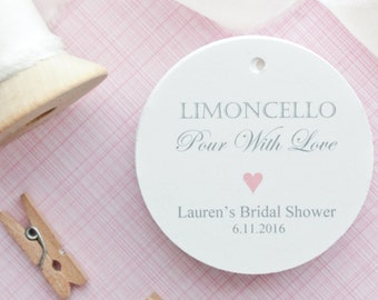 Gift Tags-Wedding Favors-Bridal Shower favors-Limoncello Favors-Wedding Thank you Tags-Limoncello- Set of 40