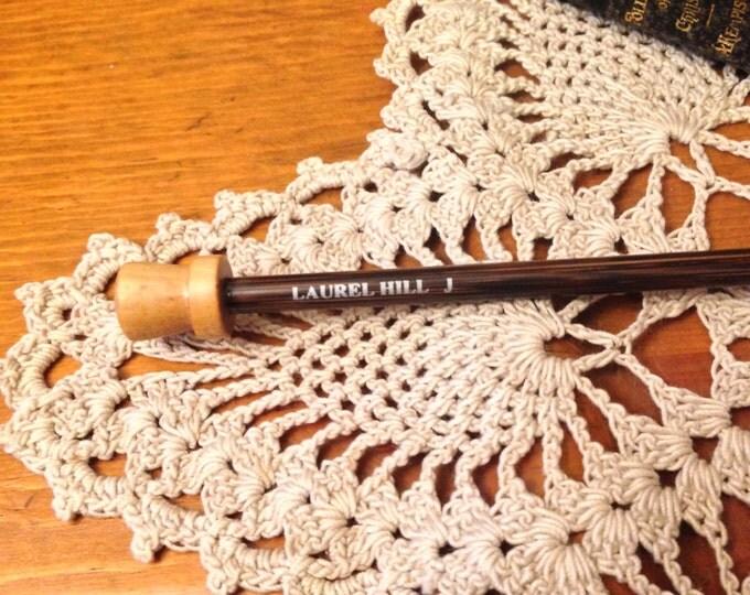Size J Tunisian Crochet Hook - Laurel Hill Forest Palm Exotic Wood Tunisian Crochet Hook Size J/6.00 mm mm