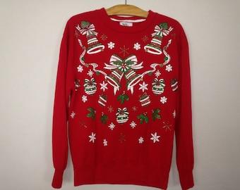 90s christmas sweatshirt size M