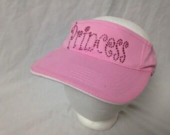 pink jeweled princess visor