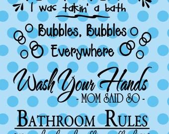 Fun Bathroom Sayings