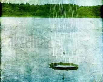 "Art photography printed ""in the rain"" square format of 15x15cm"