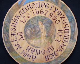 "Ouija board  - Spirit board - Talking board ""Midsummer Eve"" / Any Alphabet & Free Shipping"