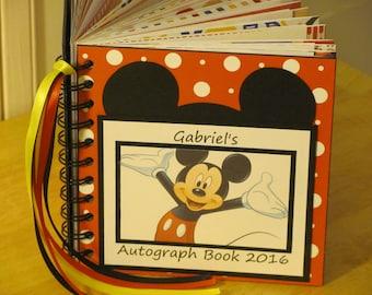 Disney Autograph Book Mickey Mouse Scrapbook Boy or Girl Keepsake