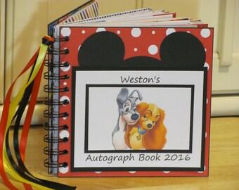 Disney Autograph Book LADY and THE TRAMP Scrapbook Boy or Girl Keepsake