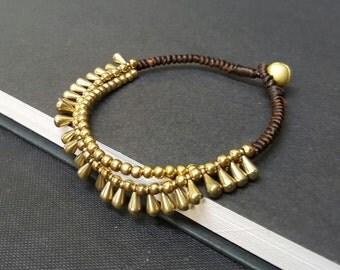 Bohemain  Brass   Water Drop Bracelet
