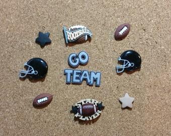 Football Push Pins or Magnets