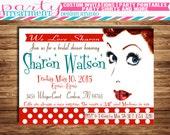 I Love Lucy Retro Bridal Shower Invitation