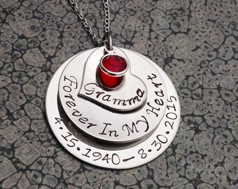 Memorial Jewelry Forever in My Heart Personalized Memorial Necklace Remembrance Jewelry
