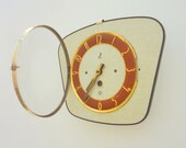Quintessential 1950s Atomic Age Vintage French JAZ Wall Clock - Freeform Shape - Perfect Working Condition - Mid Century Diamond