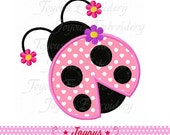 Instant Download Girl Ladybug Applique Machine Embroidery Design NO:2003