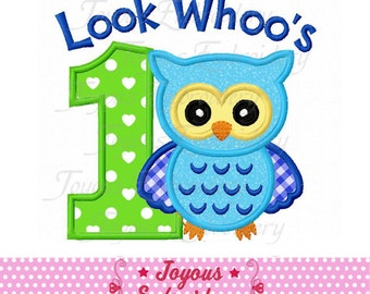 Look Whoo's 1 Owl Applique Machine Embroidery Design NO:2016