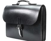Black Double Section Bridle Leather case