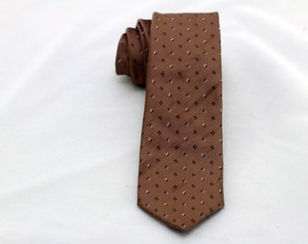 Men's Vintage Light Brown Tie/ Retro Brown Necktie