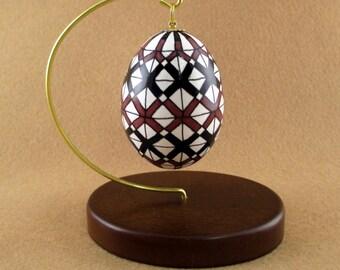 Pysanky Pisanki Ukrainian Polish Easter Egg Marta Ortiz Design Hand Decorated Chicken Egg