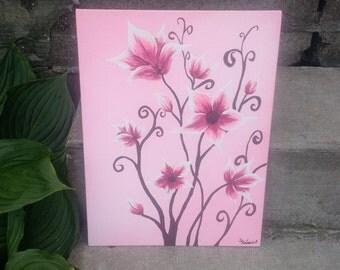 Pink Petals in Acrylic
