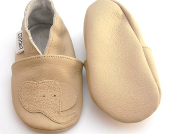 soft sole baby shoes leather infant children elephant beige 2 3 years ebooba EL-39-BE-T-5