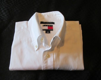 Shirt White Tommy Hilfiger long sleeves / white long sleeve shirt Tommy Hilfiger