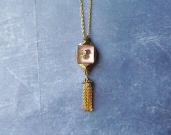 Tiny Bird with tassel pendant #BB31
