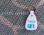 Happy Camper Vintage Style Keychain