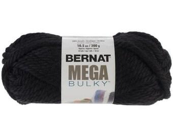 Bernat Mega Bulky Yarn in Black