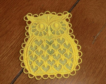 Embroidered Magnet - Owl All Thread