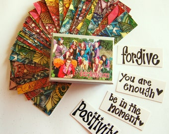 Mini fairy cards / affirmation/ positivity / guidance cards set of 60cards with box - fairylove